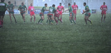A wet Group 9 rugby league game. 2013.