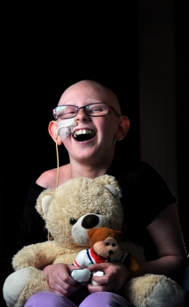 Georgia Bates, 10, all smiles during her battle with cancer. 2013.